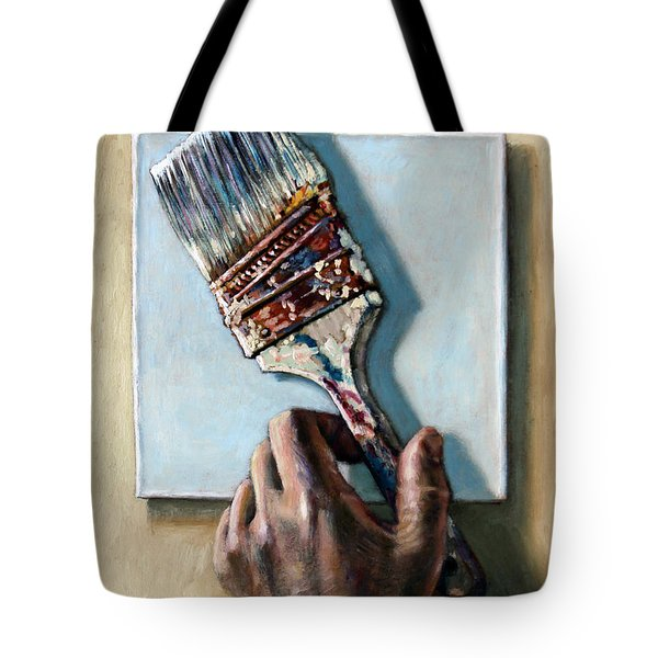 Laying Down The Paint Brush Tote Bag