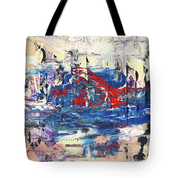 Laziness - Large Bright Pastel Abstract Art Tote Bag by Modern Art Prints