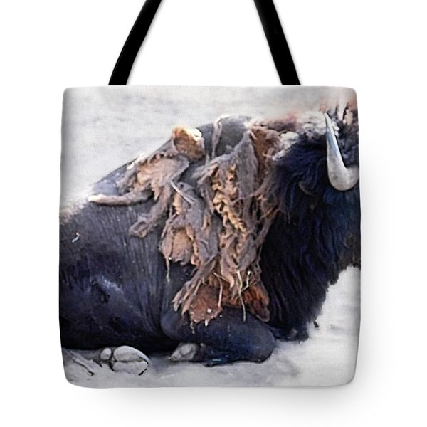Lazing Buffalo Tote Bag