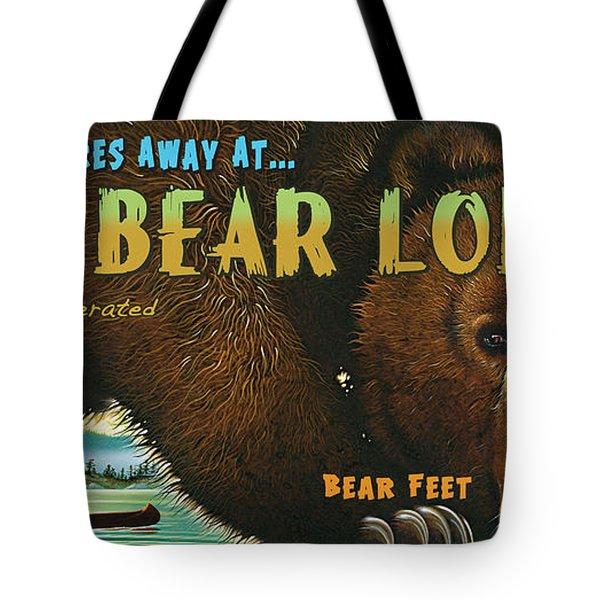 Lazy Bear Lodge Sign Tote Bag
