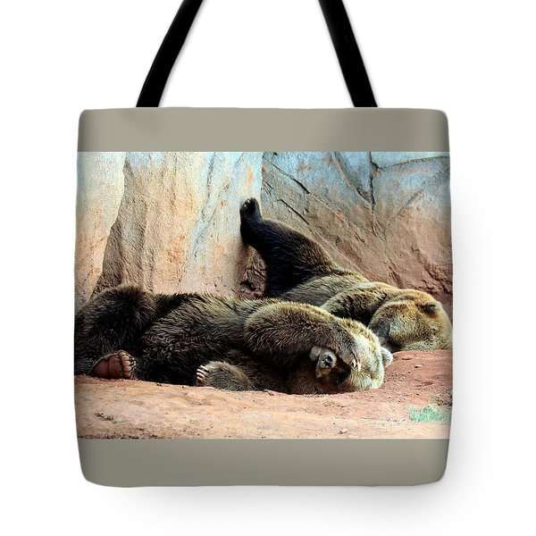 Tote Bag featuring the photograph Lazy Bears by Sheila Brown