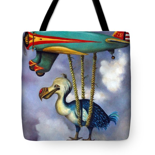 Lazy Bird Tote Bag by Leah Saulnier The Painting Maniac
