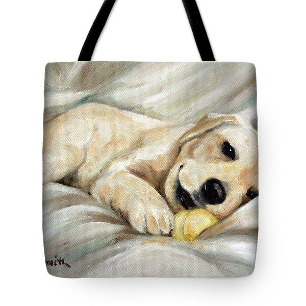 Lazy Bones Tote Bag by Mary Sparrow