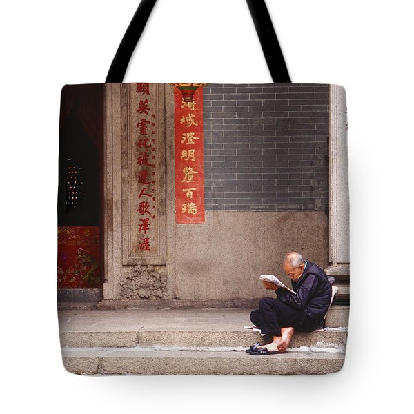 Lazy Day In Hong Kong Tote Bag by Sandra Bronstein