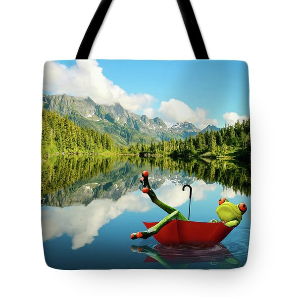 Tote Bag featuring the digital art Lazy Days by Nathan Wright