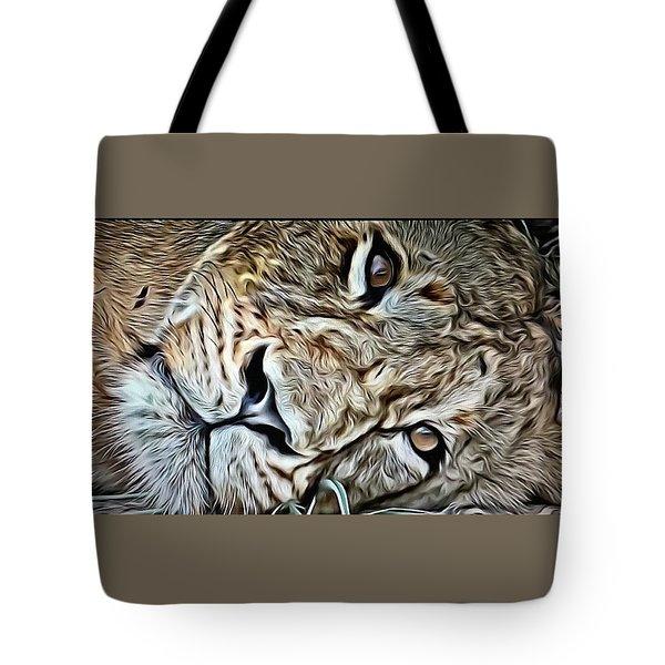 Lazy Lion Tote Bag