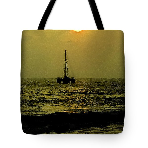 Tote Bag featuring the photograph Lazy Sunset by Randy Sylvia
