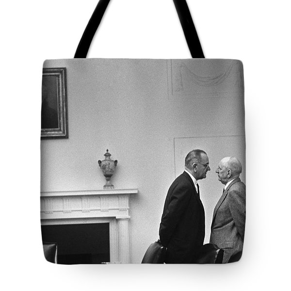 Lbj Giving The Treatment Tote Bag