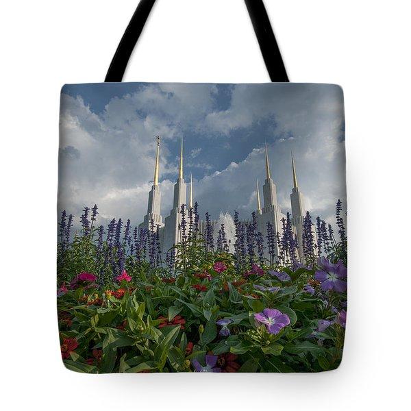 Lds Garden Flowers Tote Bag
