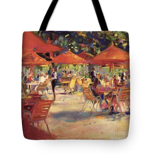 Le Cafe Du Jardin  Tote Bag