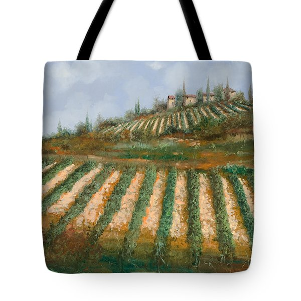 Le Case Nella Vigna Tote Bag by Guido Borelli