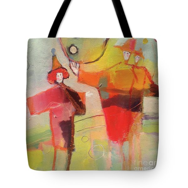 Tote Bag featuring the painting Le Cirque by Michelle Abrams