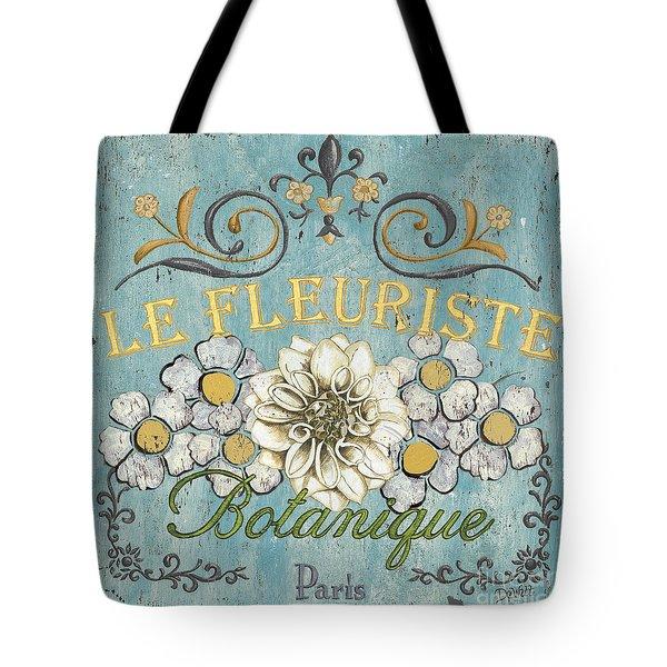 Le Fleuriste De Botanique Tote Bag