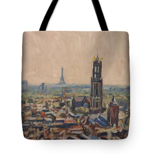 Tote Bag featuring the painting Le Grand Depart A Utrecht by Nop Briex