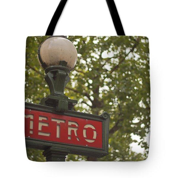 Le Metro Tote Bag by Georgia Fowler