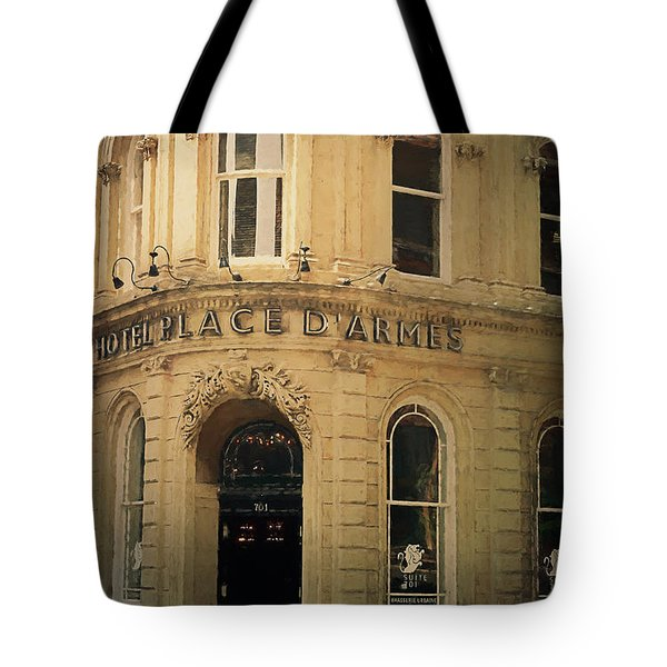 Le Place D' Armes Hotel  Tote Bag by Maria Angelica Maira