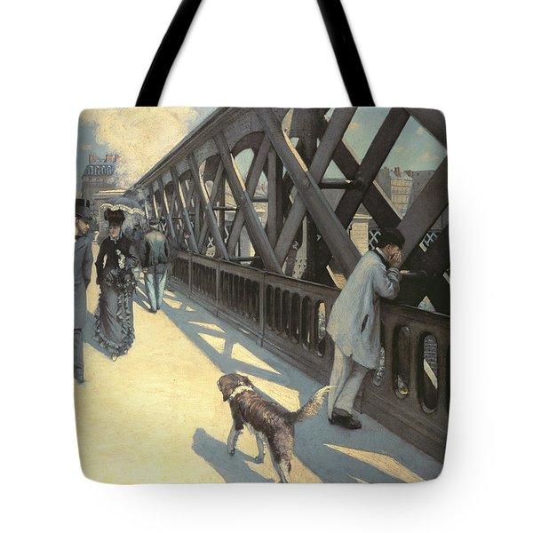 Le Pont De L'europe Tote Bag by Gustave Caillebotte
