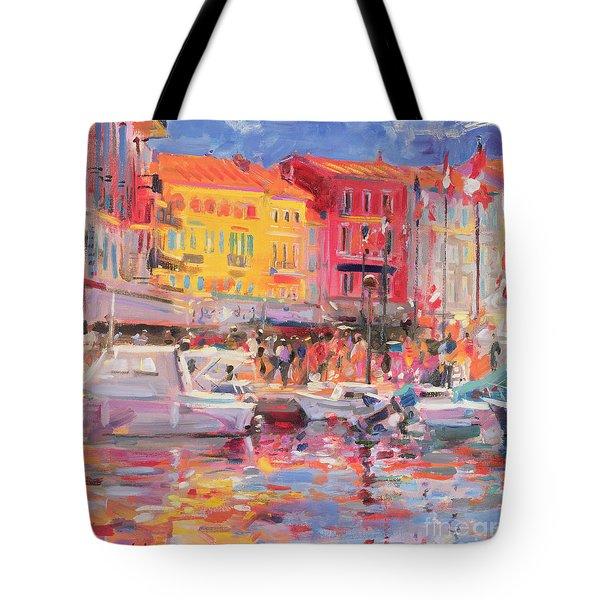Le Port De St Tropez Tote Bag