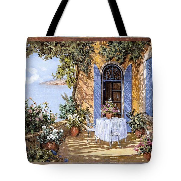 Tote Bag featuring the painting Le Porte Blu by Guido Borelli