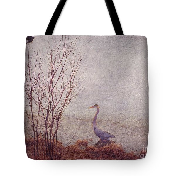 Tote Bag featuring the photograph Le Retour De Mon Heron by Aimelle