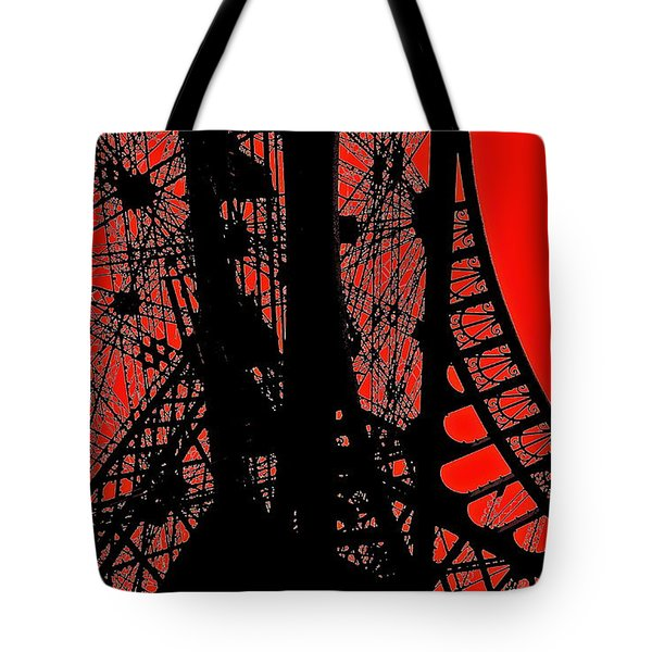 Tote Bag featuring the photograph Le Rouge Et Le Noir by Danica Radman