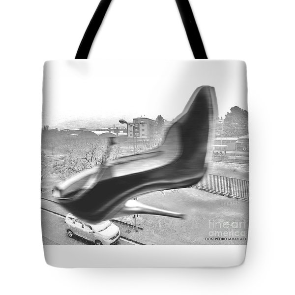 Flying Stiletto Tote Bag by Don Pedro De Gracia