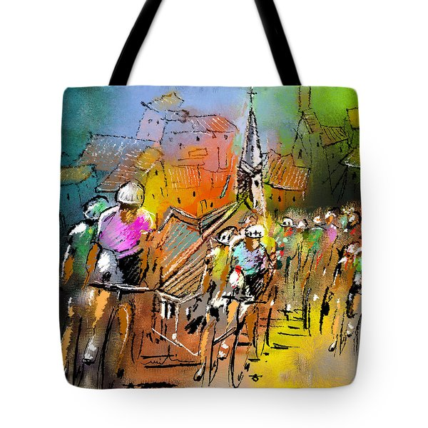 Le Tour De France 04 Tote Bag by Miki De Goodaboom