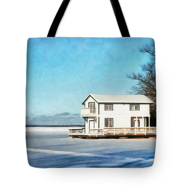 Leacock Boathouse In Winter Tote Bag