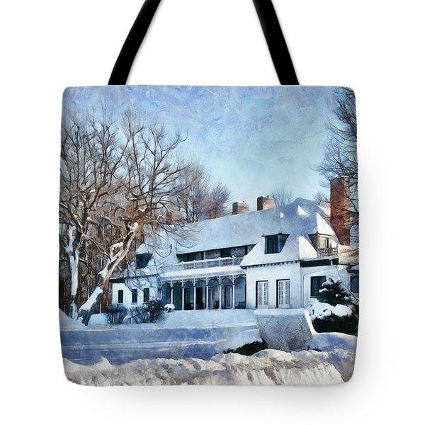 Leacock Museum In Winter Tote Bag