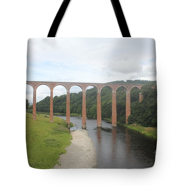 Leaderfoot Viaduct Tote Bag by David Grant