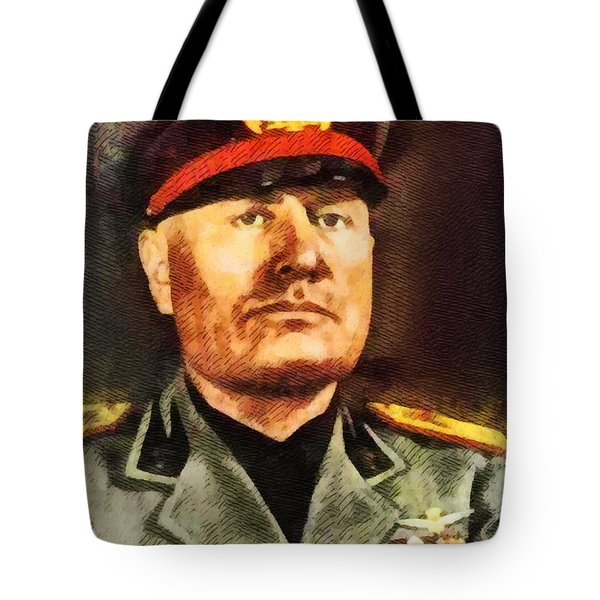 Leaders Of Wwii - Benito Mussolini Tote Bag