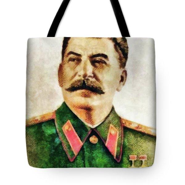 Leaders Of Wwii - Joseph Stalin Tote Bag