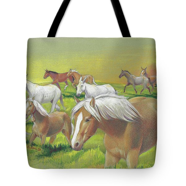 Leading The Bell Mare Tote Bag