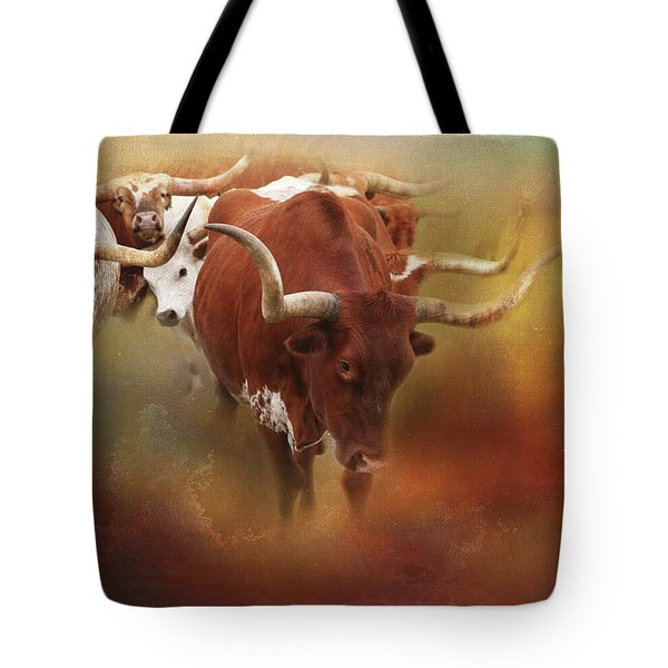 Tote Bag featuring the photograph Leading The Herd by Toni Hopper