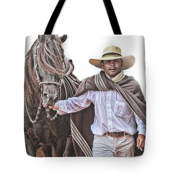 Leading To Competition Peruvian Horse Tote Bag