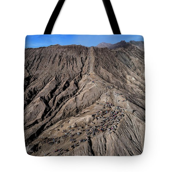 Tote Bag featuring the photograph Leading To The Volcano Crater by Pradeep Raja Prints