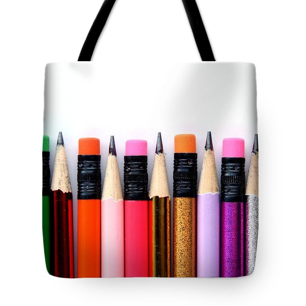 Leads And Erasers Tote Bag
