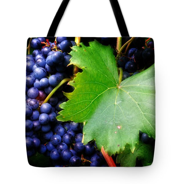 Leaf And Grapes Tote Bag