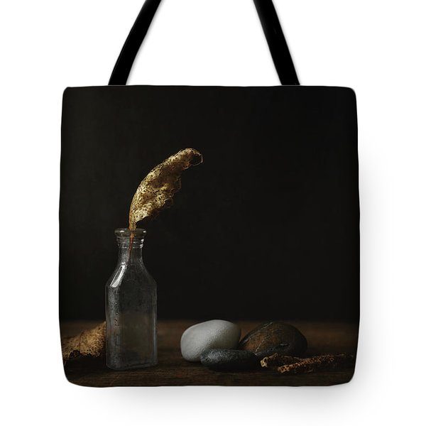 Leaf Bottle Rocks Tote Bag