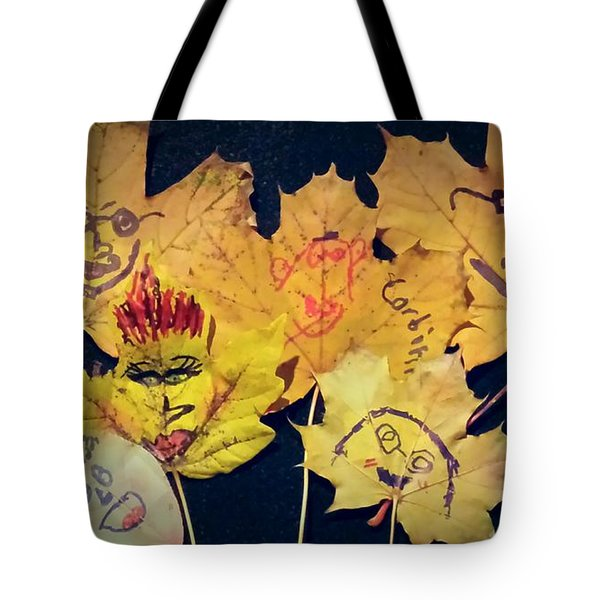 Leaf Family Tote Bag