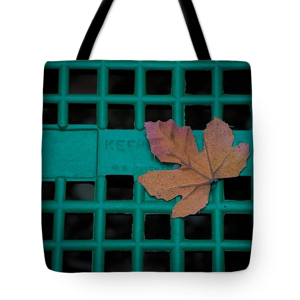 Leaf In A Basket Tote Bag