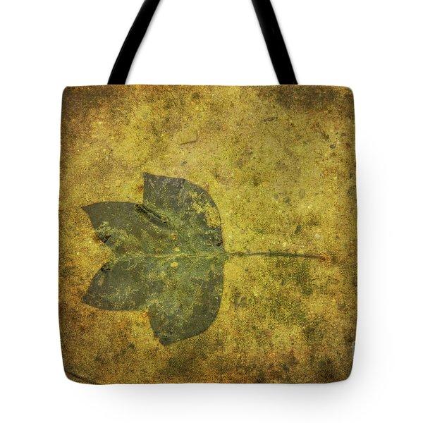 Tote Bag featuring the digital art Leaf In Mud One by Randy Steele