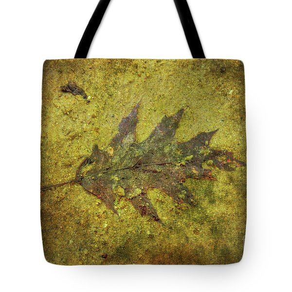 Tote Bag featuring the digital art Leaf In Mud Two by Randy Steele