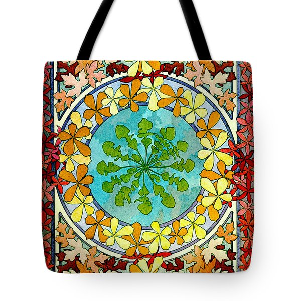 Leaf Motif 1901 Tote Bag by Padre Art