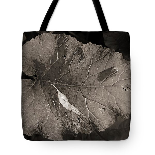 Leaf On A Leaf Tote Bag