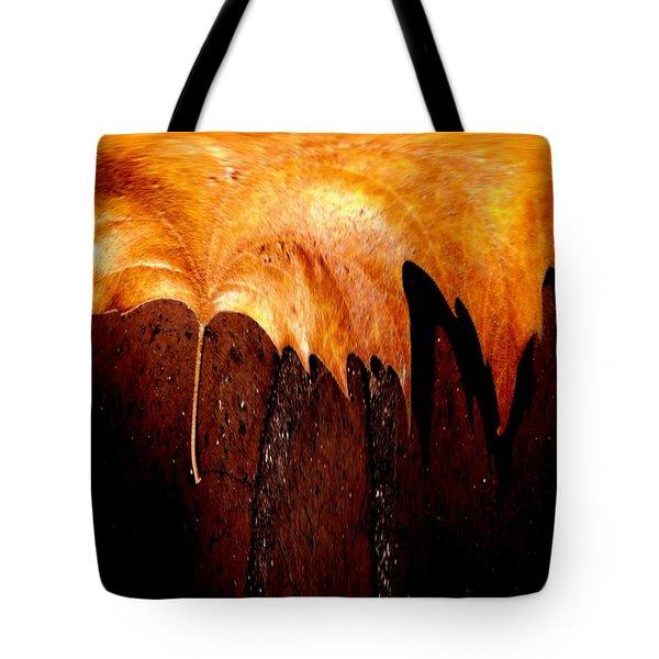 Leaf On Bricks 2 Tote Bag by Tim Allen