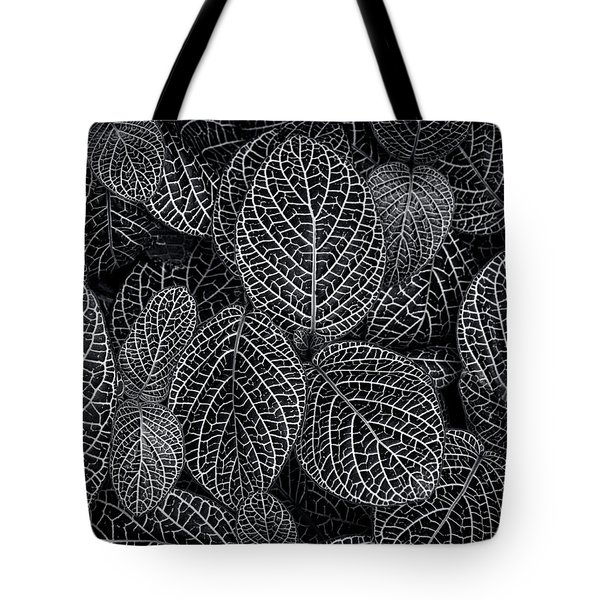 Tote Bag featuring the photograph Leaf Pattern by Wayne Sherriff