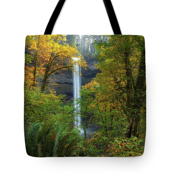 Leaf Peeping And Waterfall Tote Bag by David Gn