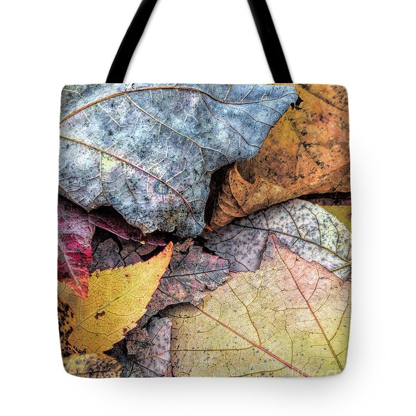 Leaf Pile Up Tote Bag by Todd Breitling