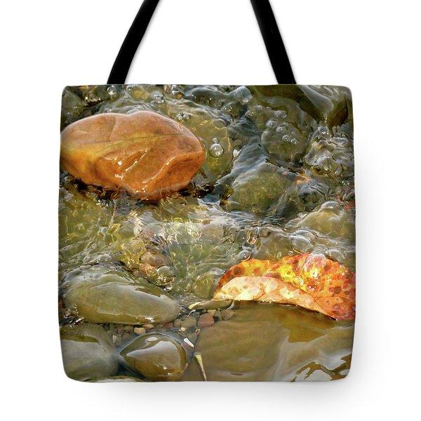 Leaf, Rock Leaf Tote Bag